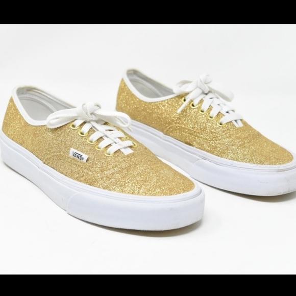 Vans Shoes | Gold Glitter Womens | Poshmark